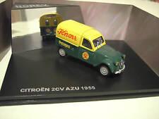 CITROËN 2CV AZU fourgonnette 1955 KNORR vert jaune 1/43 Norev 156022 voiture min