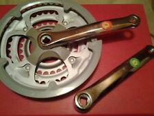Triple chainwheel 28/38/48 T crankset 165mm acier heavey duty Square chainset