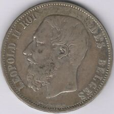 More details for 1873 belgium leopold ii silver 5 francs   european coins   pennies2pounds