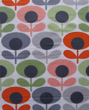 ORLA KIELY OVAL FLOWER in TOMATO ALL SIZES FQ 50CM 100CM New Fabric
