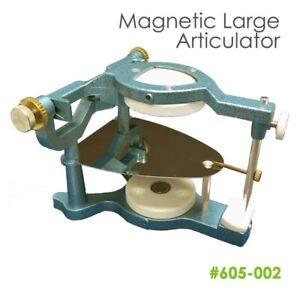 Dental Lab Large Magnetic Articulator Dentist w/ Occlusal Plate+Pin+Lock Screw