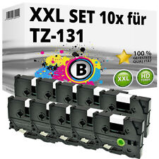 10x Farbband kompatibel Brother P-Touch PT E100 1010 1230 H300 D200 H105 TZ-131