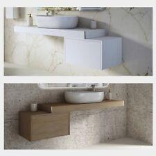 Mensola porta lavabo in legno arredo mobile bagno 60 90 120 bianco o tabacco |4