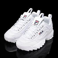 FILA Disruptor II 2 White Authentic Shoes Unisex Size UK 3-9 FS1HTA1071X_WWT