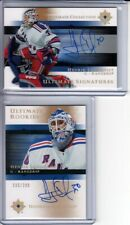 2005-06 Ultimate Collection #97 Henrik Lundqvist 2 x RC Auto LOT (1)