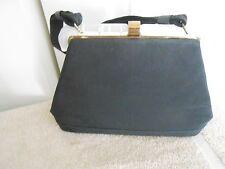 Vintage Black File/Lucite Handled Bag