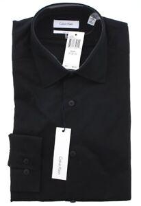 Calvin Klein CK Mens Slim Fit Tone on Tone Stripe Cotton Dress Shirt 33T0476