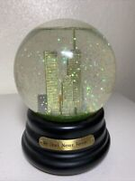 """We Shall Never Forget..."" Twin Towers Snow Globe Simson Giftware"