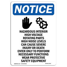 OSHA Notice - Hazardous Interior Sign With Symbol | Heavy Duty Sign or Label