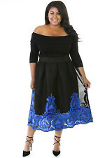 Abito ricamo Party Taglie forti Grandi Curvy Formosa Plus Size Tulle Dress XXXL