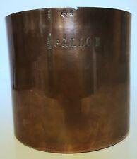 Antique Copper rum measure British Royal Navy Rum GROG 1/2 Gallon