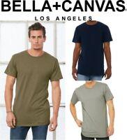 MENS - Long Body T-Shirt Scoop Hemline Longline Length - SIZES S-XXL