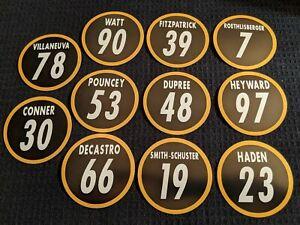 Pittsburgh Steelers 2020 Magnets: TJ Watt, Conner, Big Ben, Smith-Schuster Haden