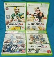 XBOX 360 Sport Game Lot Madden NFL Football 09 11 12 13 Tested EA Sports
