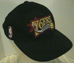VTG NWT Sports Specialties Philadelphia Sixers 76ERS Script Snapback Hat 90s Cap