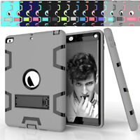 Case For iPad 9.7 2017 5th Gen A1822 A1823 Shockproof Hybrid Kickstand 360 Cover