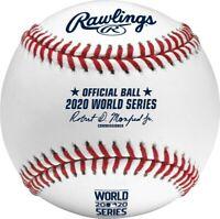 2020 World Series MLB Rawlings Official Baseball Los Angeles Dodgers & Rays