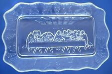 The Last Supper Glass Grapevine Serving Tray Jesus and His Twelve Disciples