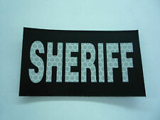 """SHERIFF REFLEC SOLAS ON BLK solasX 2ND PATCH 3.5""""X2"""" WITH VELCRO® BRAND FASTENER"""