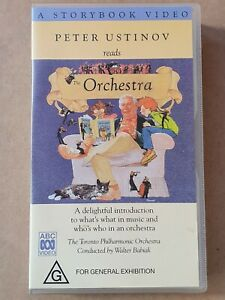 PETER USTINOV reads THE ORCHESTRA Rating G - VHS Tape Excellent - combined post