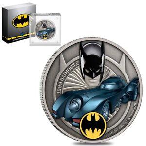 2021 Niue 1 oz DC Comics Batman - 1989 Batmobile Silver Coin (w/Box & COA)