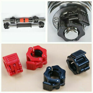 2Pcs 25MM Spinlock Collars Barbell Dumbbell Clip Clamps Weight Bar Locks
