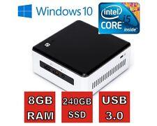 Intel® NUC SILENT PC mit i5 CPU, 8GB RAM, 240GB SSD, Windows 10 Pro, HDMI