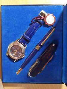 Herrenuhr Quartz GHW of Switzerland mit Kugelschreiber mit Taschenmesser