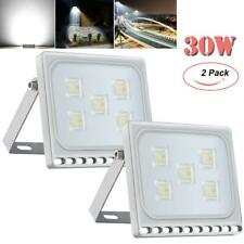 New listing 2 Pack 30W Slim Led Flood Lights Cool White Outdoor Security Spotlight Lamp Ip67