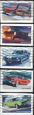 US 2013 Scott #4743-47 MUSCLE CARS 5 USED FOREVER STAMPS ON PAPER MACHINE CANCEL