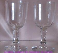 Lote de 2 vasos de vino blanco Porto cristal Baccarat Saint Louis siglo XIX