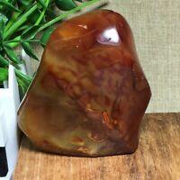 136g Natural Red Agate torch polished quartz crystal Specimen Healing n1073