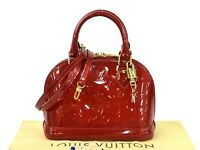Auth Louis Vuitton Monogram Vernis Alma BB Handbag Shoulder Bag M91698 - 98405d