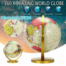 360° Rotating World Globe Earth Map Geography Educational Toy Kids Home Office