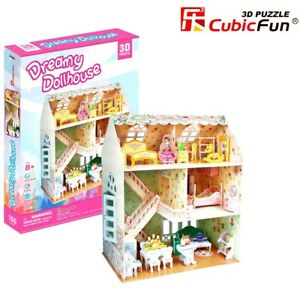Girls Dreamy Dollhouse 3D Model DIY Puzzle Hobby Building Kit Build Toy Kids