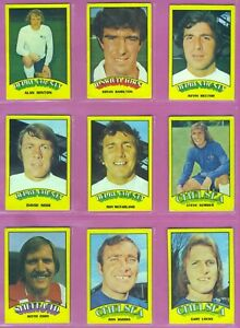 A&BC Gum Footballers Red Back Rub Coin Odd Cards x 55 Issued 1974