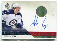 2015-16 SP Authentic Limited Autographs 281 Andrew Copp Rookie Auto 59/100
