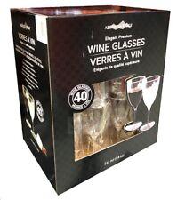 Argentia Ridge Elegant Premium Plastic Cut Crystal Disposable Wine Glasses 40 CT