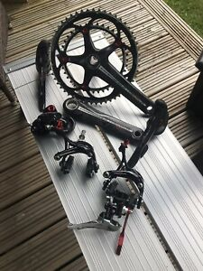 Campagnolo Centaur Black/Red Carbon 10 Speed Group Set