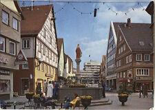 Alte Postkarte - Aalen - Marktplatz mit Blick auf das neue Rathaus