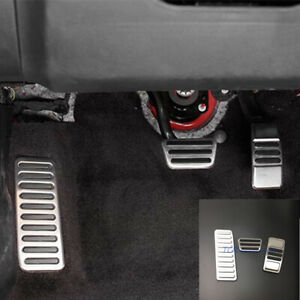 For Ford Mustang 2015-2018 Gas Fuel Brake Pedal Accelerator Foot Rest Pad Cover