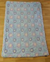 Tommy Hilfiger Pastel Floral Twin Size Quilted Comforter Blanket Puffy Warm VTG