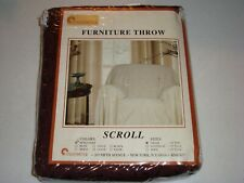 Stylemaster Furniture Chair Throw Scroll Pattern Burgundy