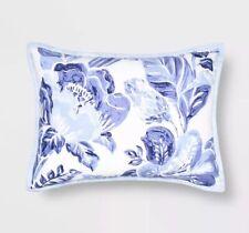 "Floral Print Tufted Pillow Sham Blue - Opalhouseâ""¢ Standard New Porcelain"