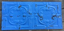 Vintage Ceiling Tin for crafts ptach work home decor blue