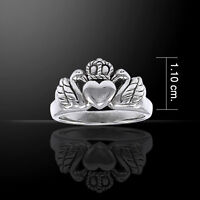Swan Claddagh  love, loyalty and friendship Sterling Silver Ring by Peter Stone