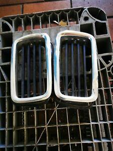Original BMW E24 Nieren Chrome Niere Beulen Vorhanden inkl. Dichtung Oldtimer