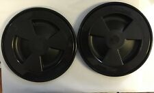 """2x Inspection Cover ,Plastic,125mm (5"""") Bore, Black Boat/Yacht/Cruiser/Ship"""