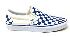 Vans Unisex Classic Checkerboard Slip On Shoes Blue White Mens 5 / Womens 6.5
