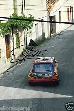 "World Rally Championship Driver Jean Ragnotti Hand Signed Photo 12x8""  AX"